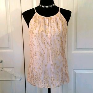 Lilly Pulitzer Silk Blend Pink Polka Dot Lined top